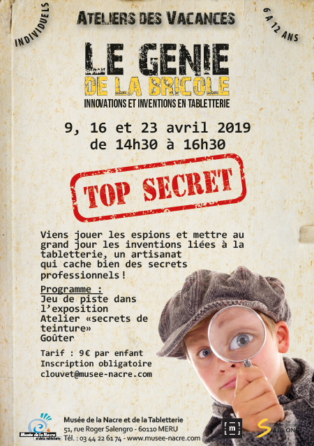 atelier top secret avril 2019